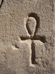 Egyptian ankh carved i stone