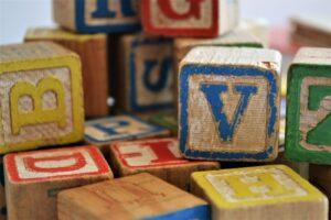 children's blocks in stack