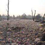 a wasteland of garbage